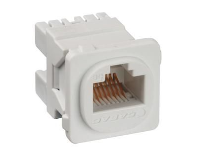 RJ45 JACK Cat5e  K/110 FITS CLIPSAL Wallplate - White - Pack 10 - JE/10